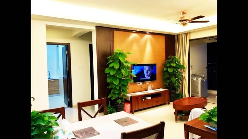 三亚市中心5A景点对面 高级三居室 配套星级酒店游泳池与热带园林 - Sanya Shi - Maison