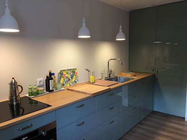 Remodeled kitchen with new quality appliances