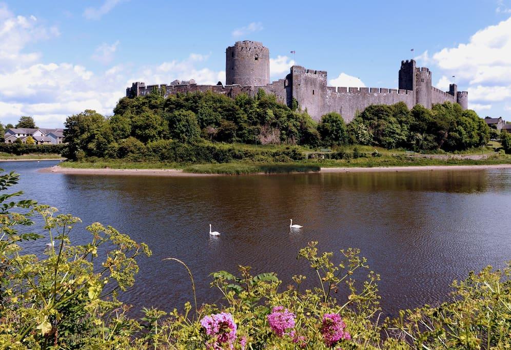 Pembroke Castle a short walk from High Noon.