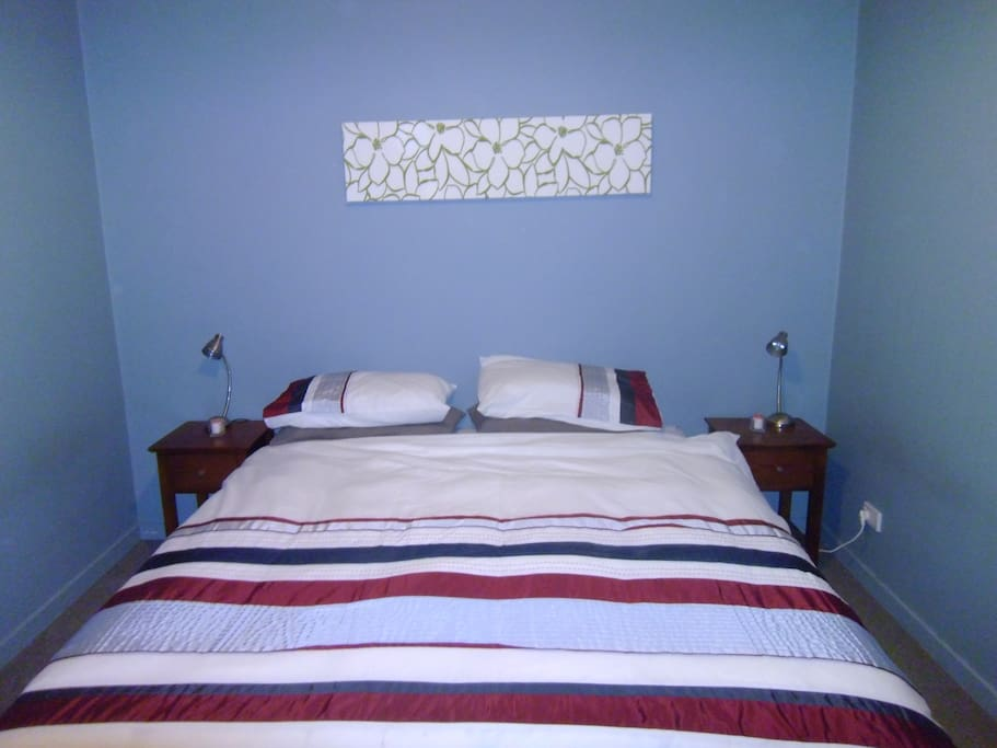 Our King room. Bed can be split into two singles if needed. A Queen is also available on our other listing