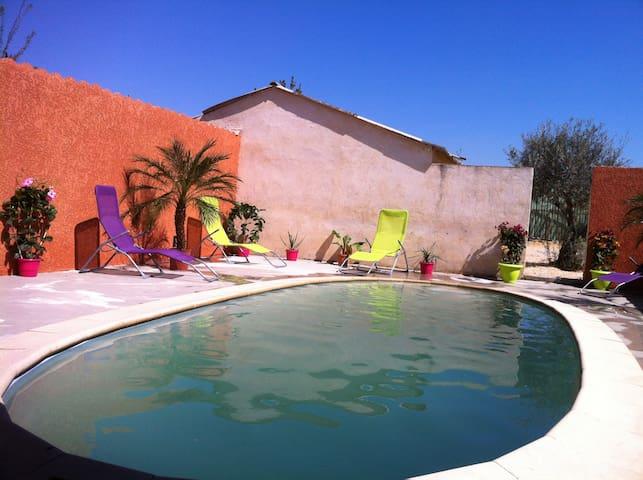 Agréable gîte rural avec piscine - Beaucaire - Wohnung