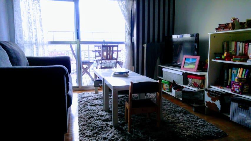 Salón con acceso a terraza