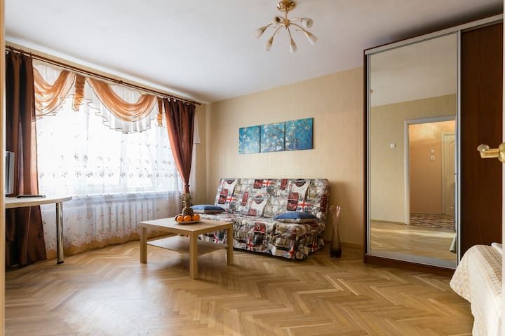 уютная квартира в парковой зоне метро Пл.Мужества - Saint Petersburg - Flat