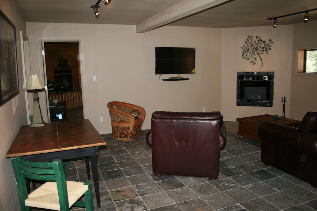 Lower level great room with Foosball table