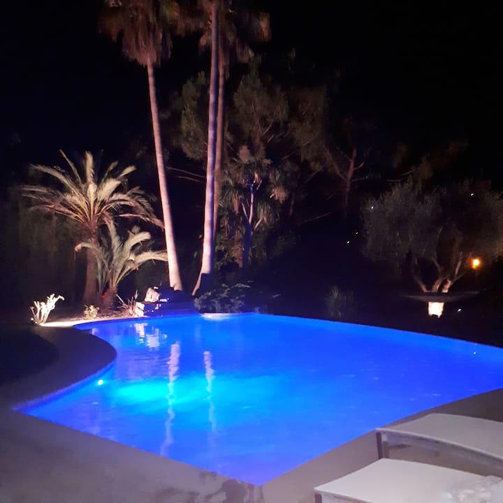 Villa spacieuse, piscine, spa, home-cinéma, jardin