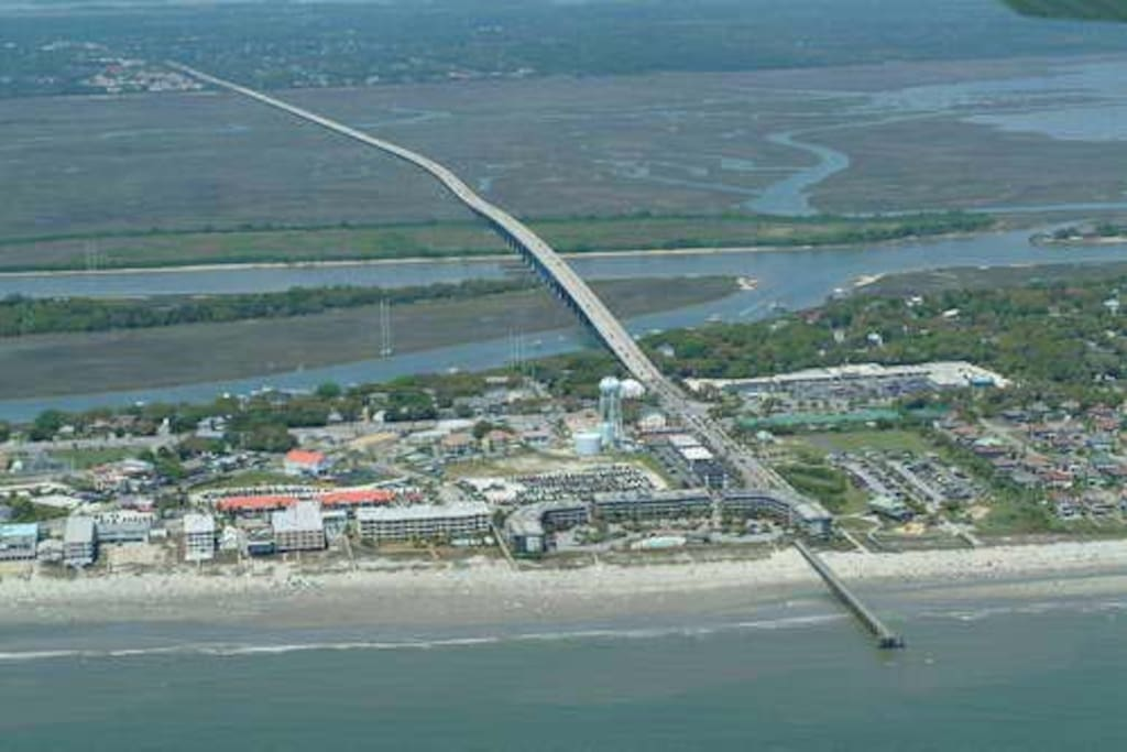 Isle of Palms Connector. Our home is near the north end.