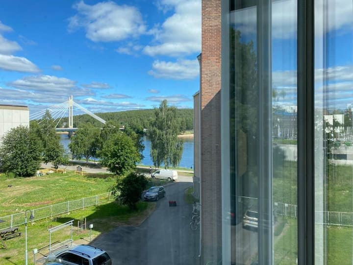 Riverside apartment, center of Rovaniemi