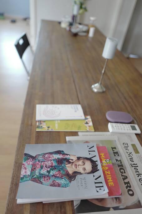 지역 정보지와 신문 제공