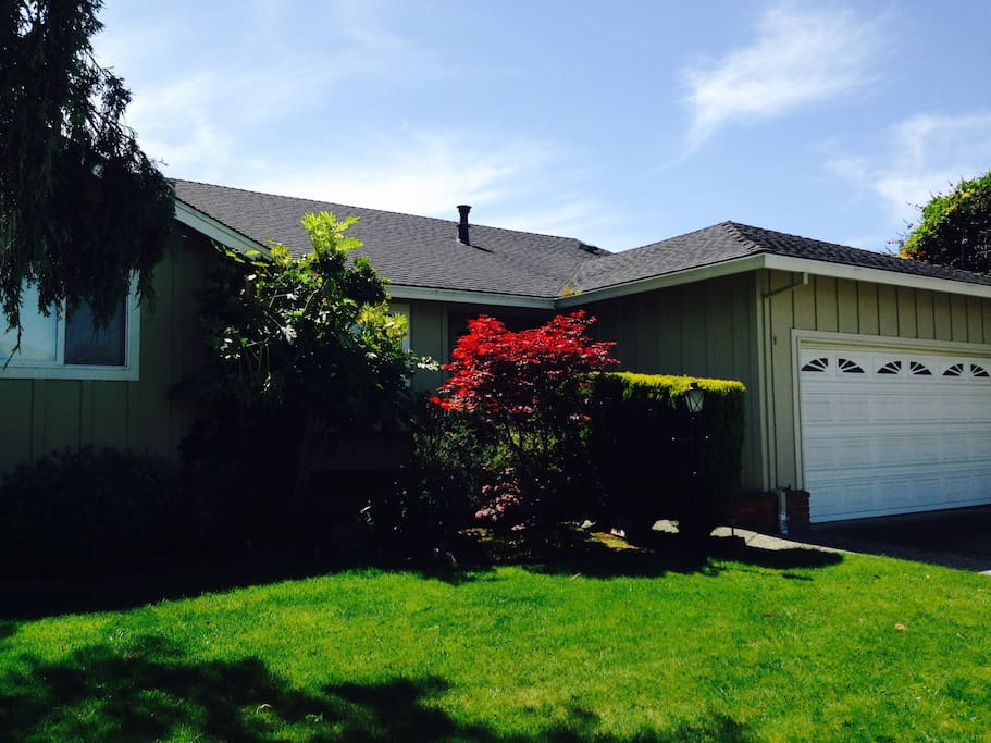 Nice home in suburbia, but walking to grocery and the malls.  15 minutes to Muir beach, Novato, or San Francisco!