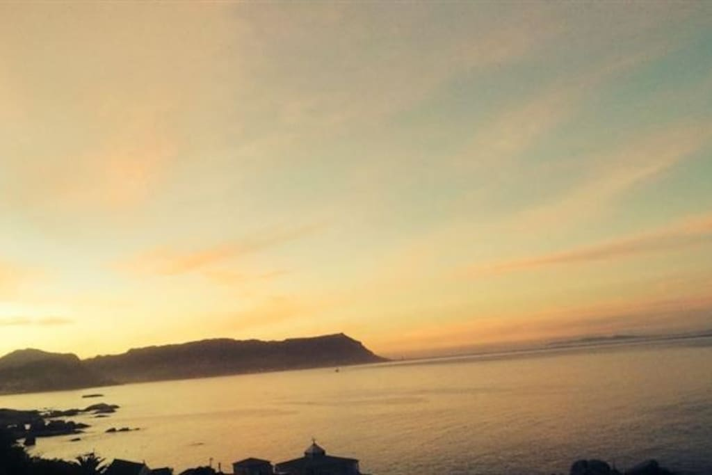 Sunset - with your view stretching from Fish Hoek to Millers Point.