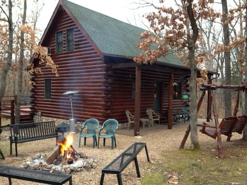 Enjoy social distancing in a private log cabin