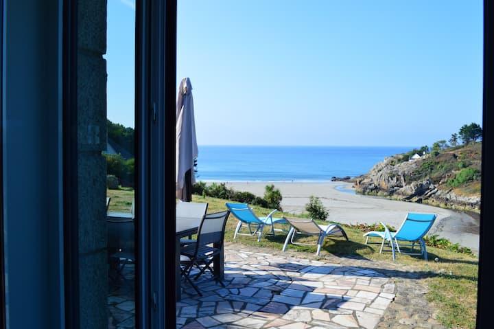 Maison de 5 chambres à Nevez, avec magnifique vue sur la mer et jardin aménagé - à 50 m de la plage