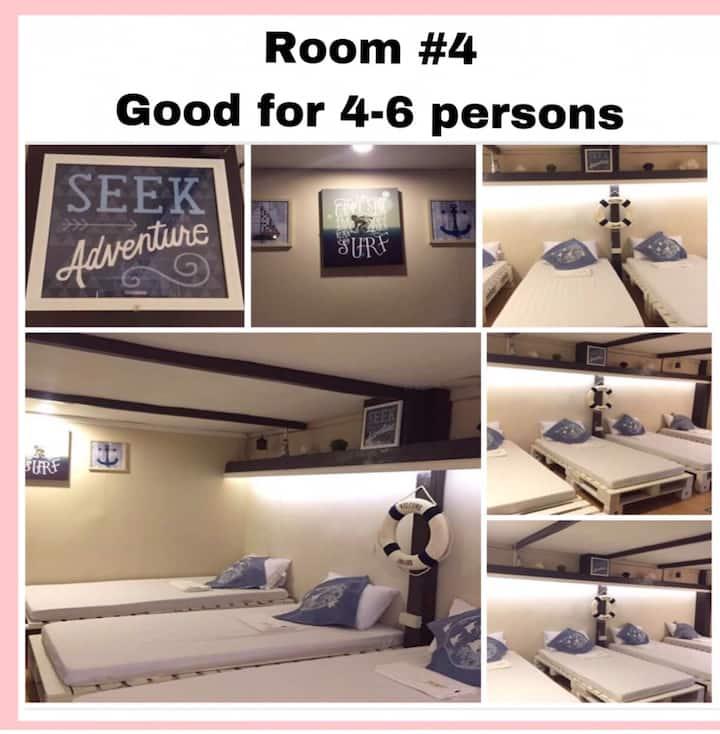 NNYL Baler Beach Front Room#4 (budget room)4-6 pax