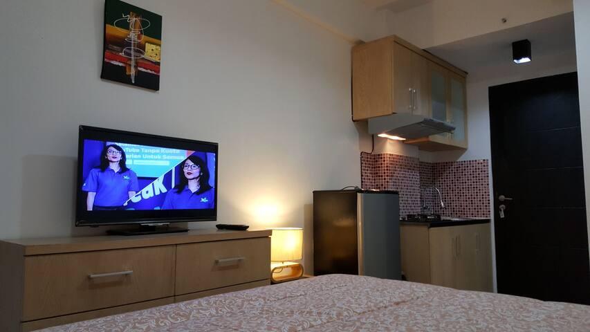 Apartemen Studio Mungil view Pool