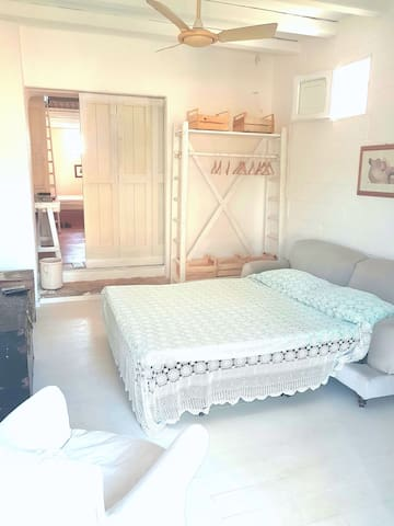guest room with  double sofa bed