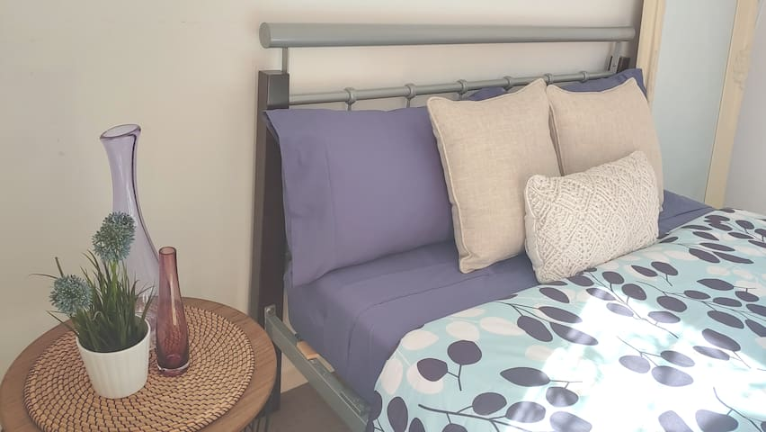 Double bed and the side table