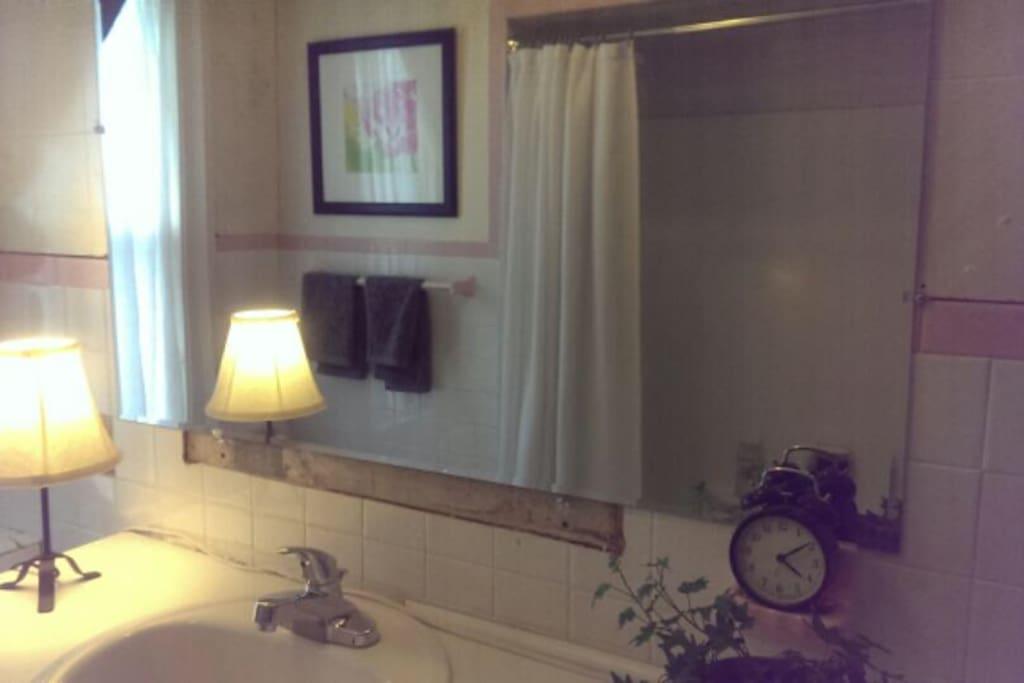 Full bathroom upstairs. Second Full Bath on 1st Floor.