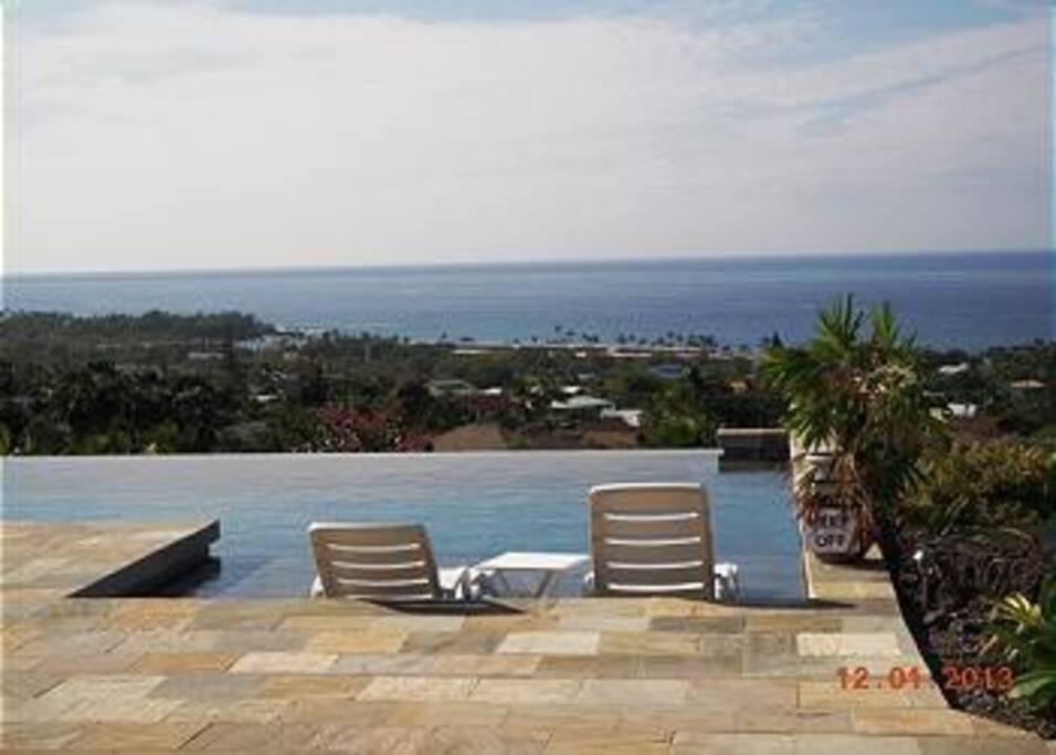 Private Infinity Pool with Coastline Ocean Views