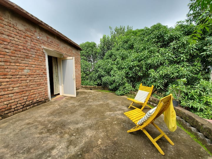 ORGANIC FARMSTAY NEAR DELHI-YELLOW ROOM