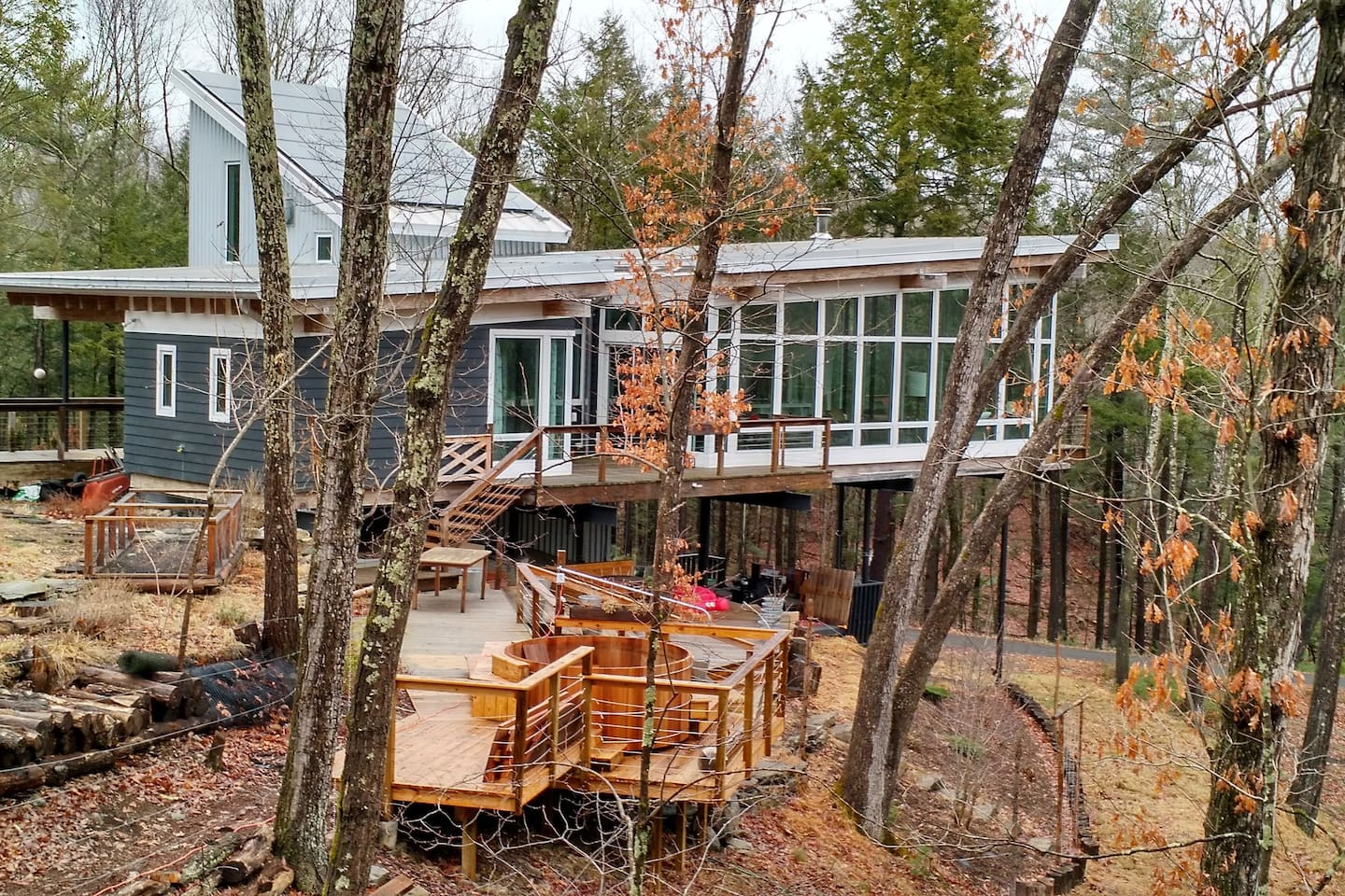 Up in the trees including outdoor hot tub (avail May-Sept)
