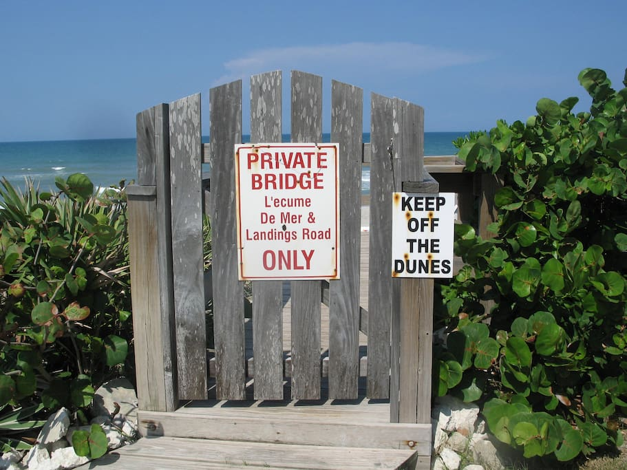 Private Beach access directly across 2 lane street