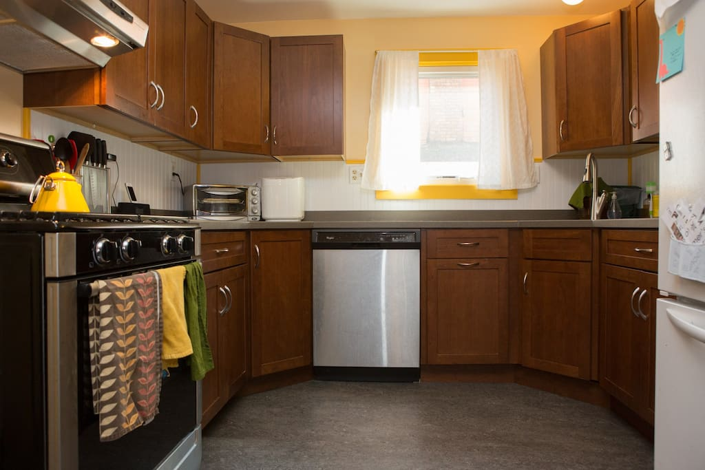 Brand new kitchen - occupied by cooks so you'll have everything you'll need.