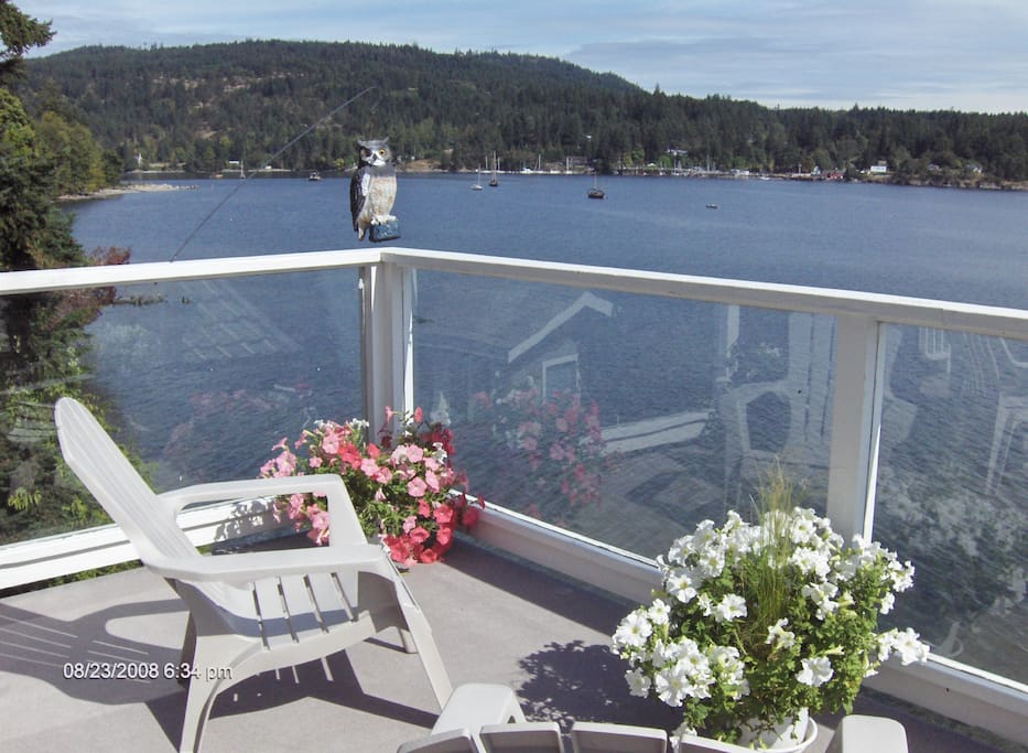Your private deck over looking the harbour.