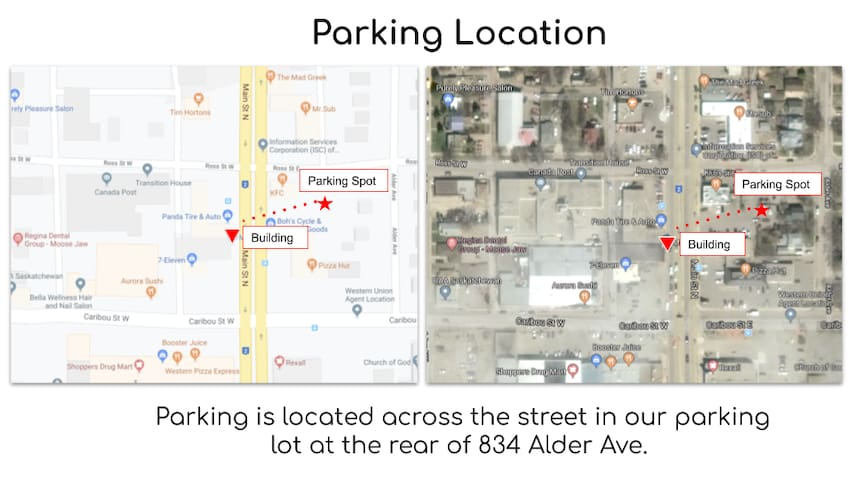 Parking Location Map