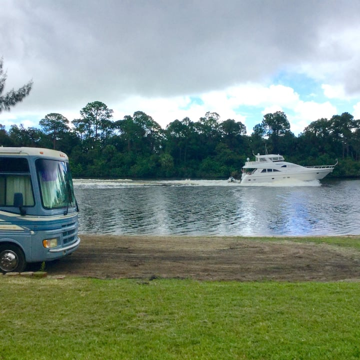 River View beach RV camp site  .  Bring your RV