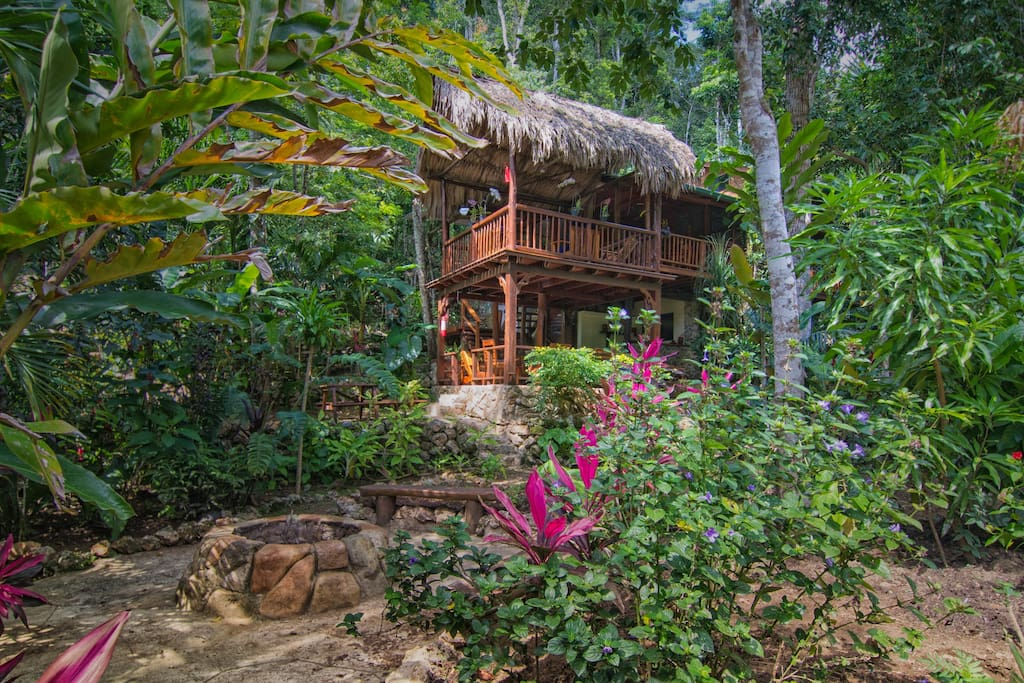 Book your next vacation at this rainforest eco-lodge in Belize.