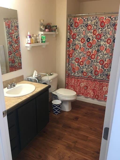 Spacious, clean bathroom!