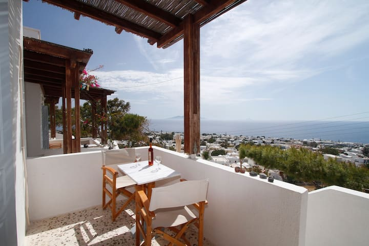 Amazing Sea View - Double Bed - Kamari - Bed & Breakfast