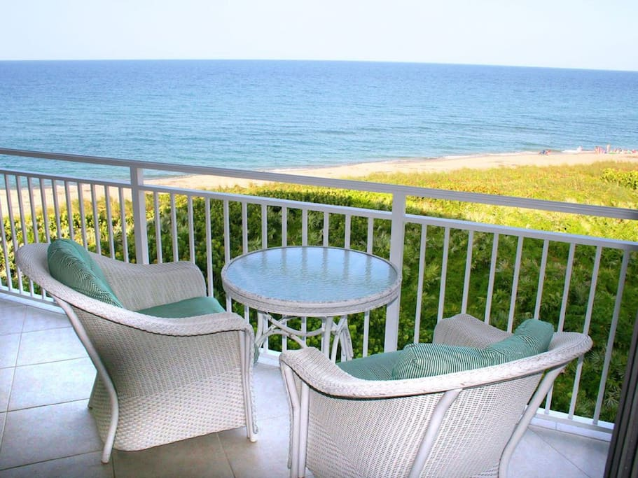 Comfortable seating with view of the ocean