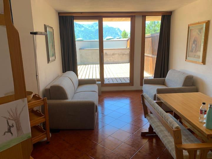 Sansicario alto: appartamento con vista Chaberton