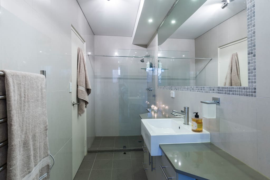 Extremely large shower area