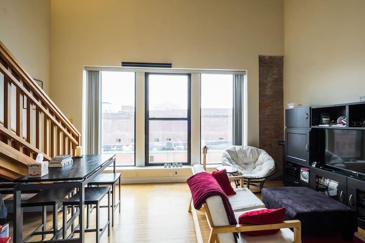 Luxurious Main St Loft Master Suite