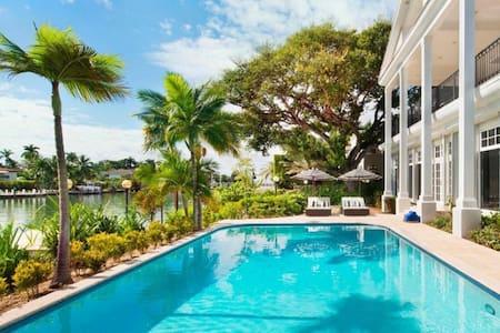 5 + 2 bd, waterfront, Sunset Island - Miami