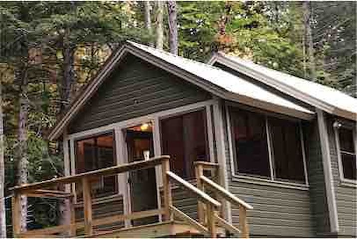 Custom-built brookside cabin