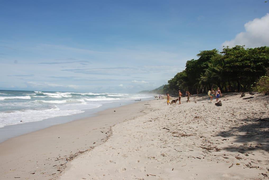 Beach in Santa Teresa 2 min walk from Villas