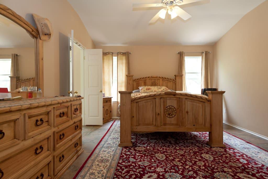 master bedroom w/private bath.  Rental