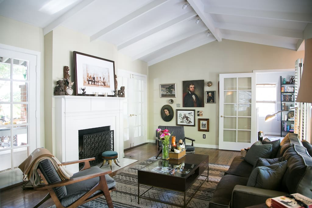 Canyon cottage filled with original art, antiques and charm.