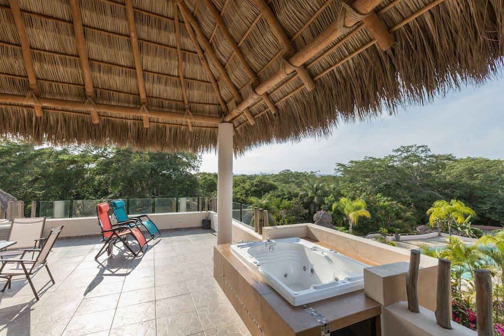 Terraza privada con vista panoramica