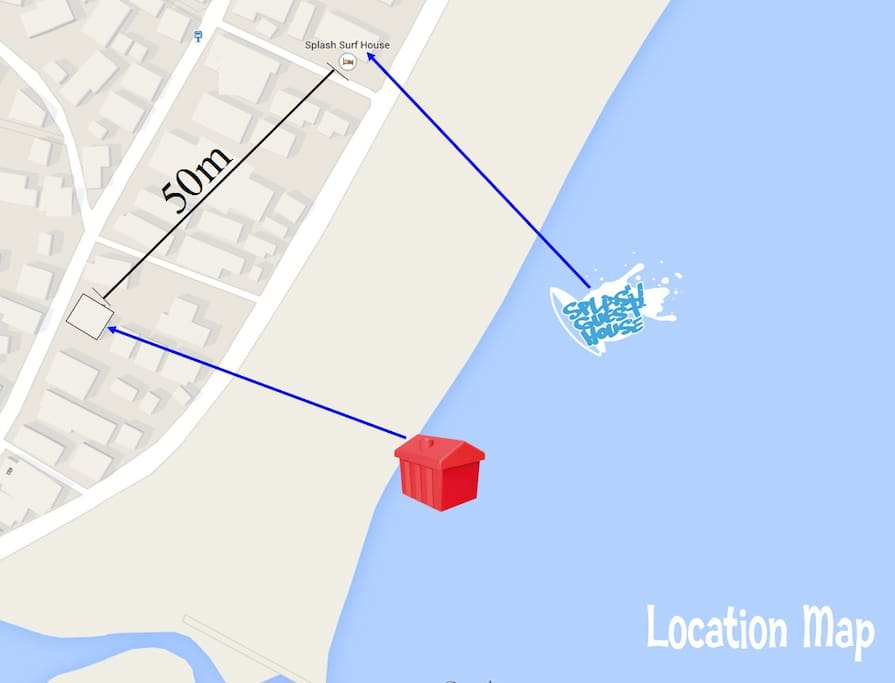 Splash Guest House Location Map