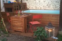 Piscine terrasse sur réservation et en supplément