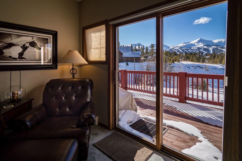Fantastic views of the ski area in a private setting.