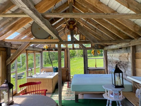 Glamping the Sun Barn in the Catskill Mountains