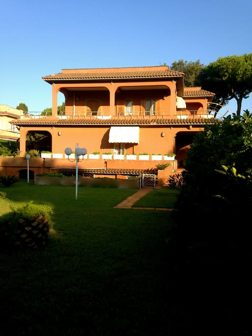View of the house from the garden