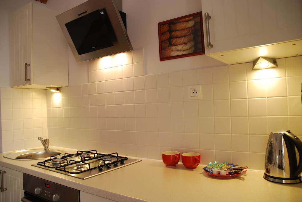 Apt. WEGA - very nice, comfortable and modern kitchen with everything you may need.