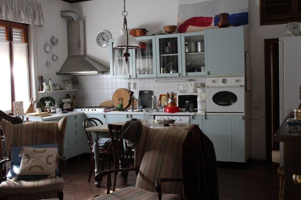 La cucina/salotto