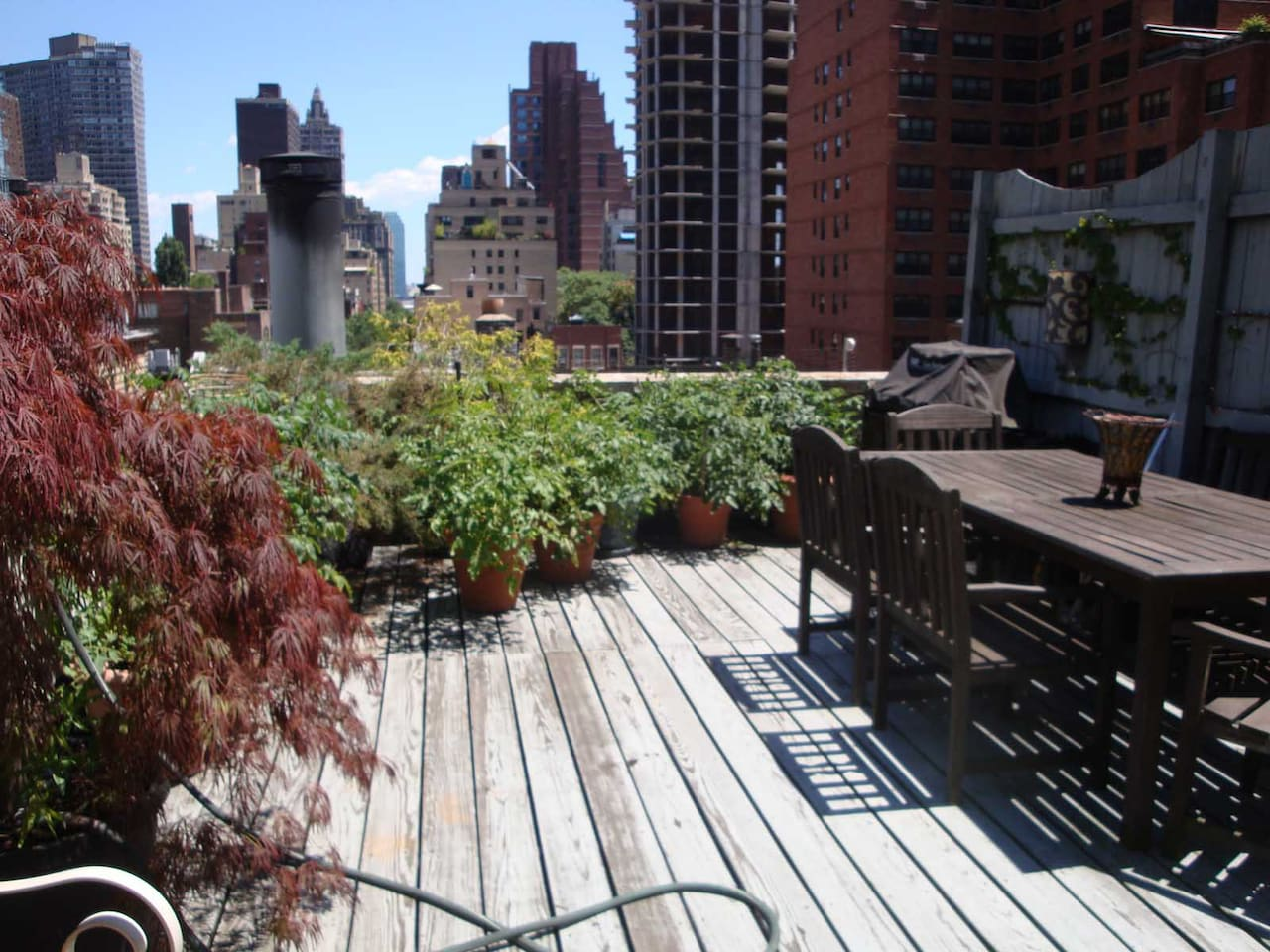 Private 600 sf terrace